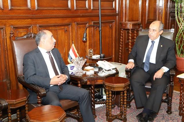 """وزير الزراعة يبحث مع نظيره """"الفلسطيني"""" تكثيف سبل التعاون الزراعي بين البلدين"""