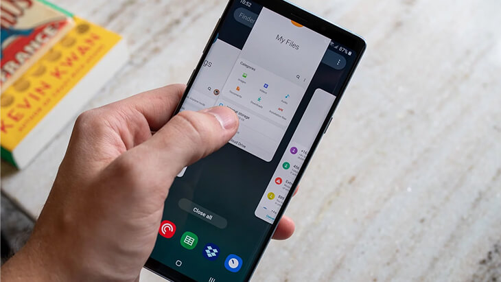 multitarea samsung galaxy note 9