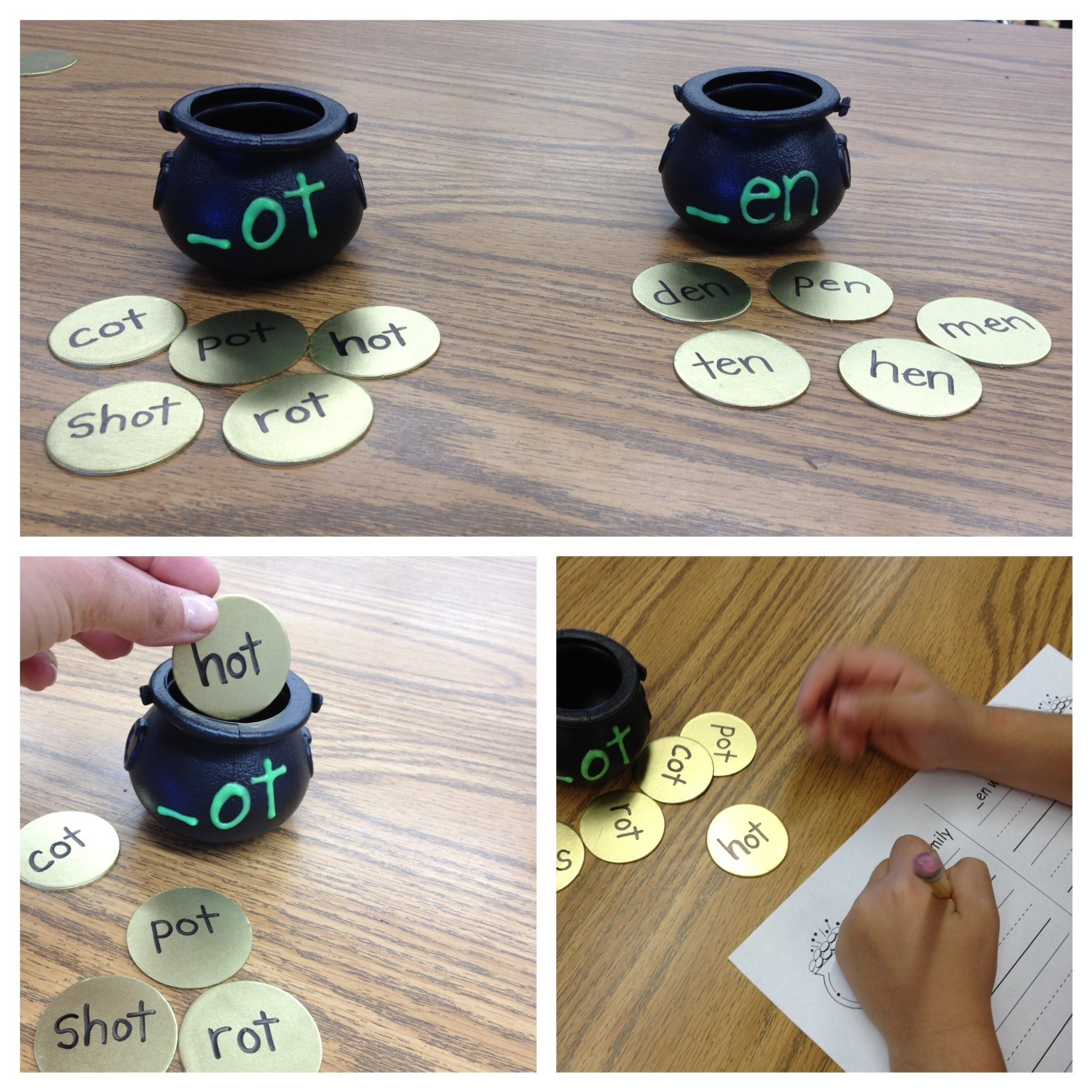 Pots Of Gold Word Families For March