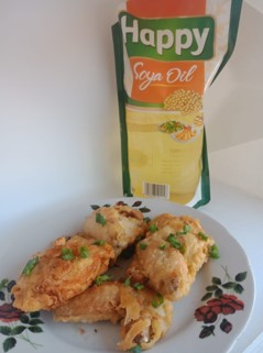 Fried Chicken Garlic Seasoning With Happy Soya Oil