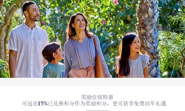 Hyatt凱悅使用積分兌換住宿及消費 最多享15%積分返還獎勵(1月15日前註冊)