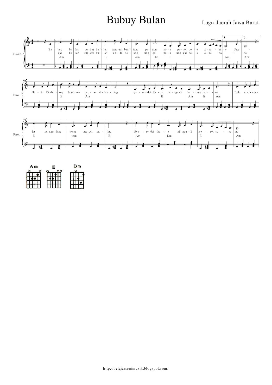 Dan Berikut Not Balok Chord Chord Gitar Dan Lirik Lagunya