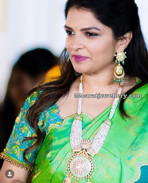 Viranica Manchu in Meena Work jewellery
