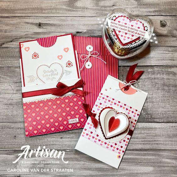 cartes et chocolats La collection Du fond du coeur Stampin' Up! mini catalogue 2020