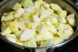 соус с кислыми яблоками