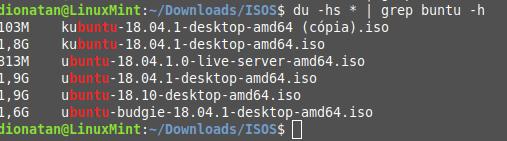 Contando ISOS do Ubuntu