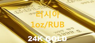오늘 러시아 금 시세 : 24K 99.99 순금 1 온스 (1oz) 시세 실시간 그래프 (1oz/RUB 러시아 루블)