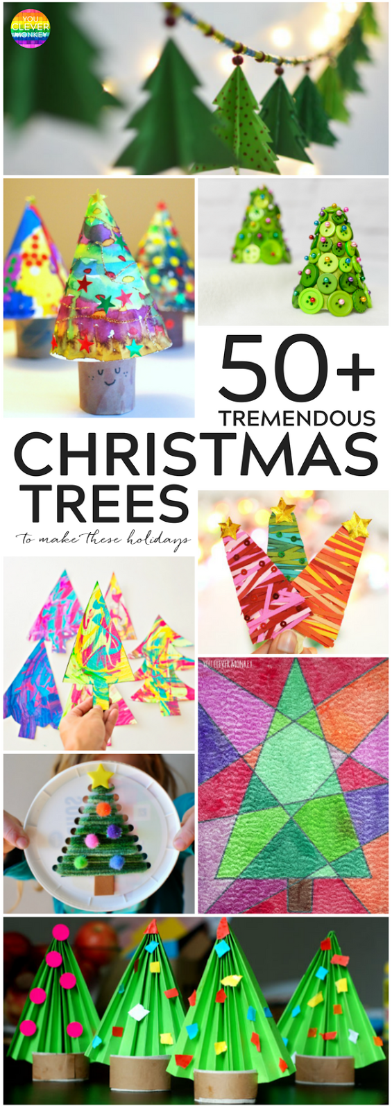 50+ Christmas Tree Crafts To Make This Christmas | you clever monkey