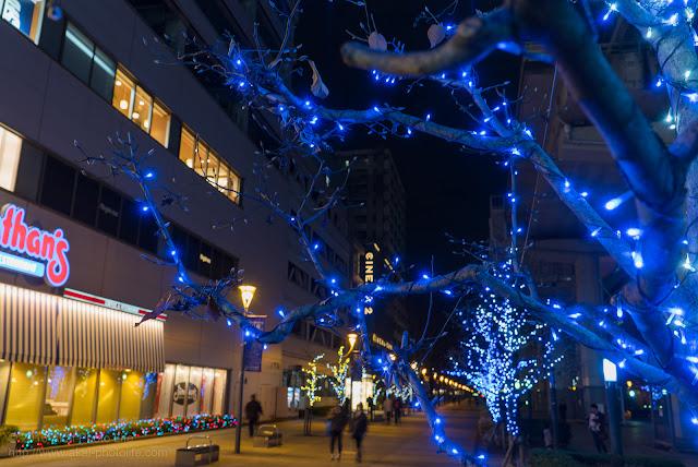 立川駅北口サンサンロードのイルミネーション