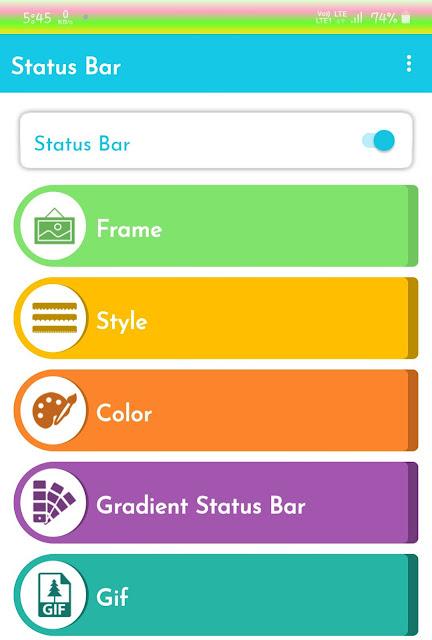 Color Status Bar app