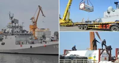 INS Tarkash फ्रांस से Cryogenic tanker लेकर मुम्बई पहुँचा
