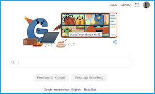 Google Ulang Tahun Ke - 22