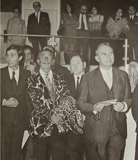 Salvador Dalí y Carlos Areán inauguración Sala Gaudí Gaudifond Arte