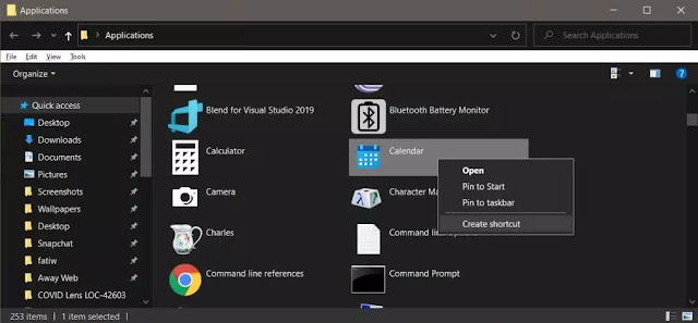 Cara Membuat Shortcut Aplikasi UWP Windows 10-2
