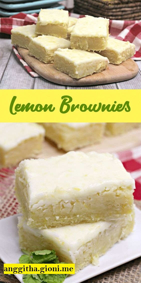 Easy Lemon Brownies Recipe