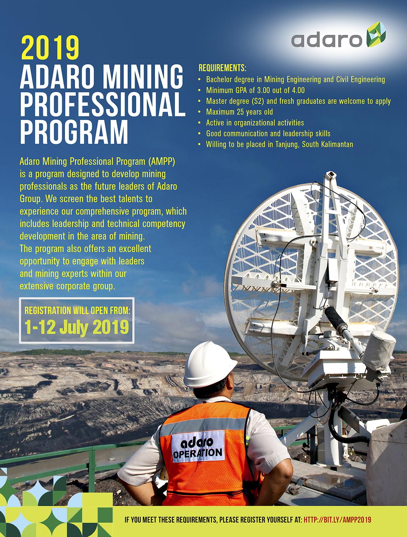 Lowongan Kerja AMPP PT Adaro Energy Tbk Juli 2019
