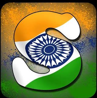Indian Flag Alphabet Letters