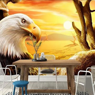 djur tapet örn fototapet fågel sol fondtapet eagle
