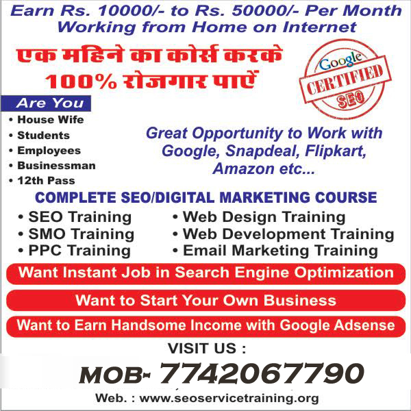 seo course Training Institute In MANSAROVAR JAIPUR