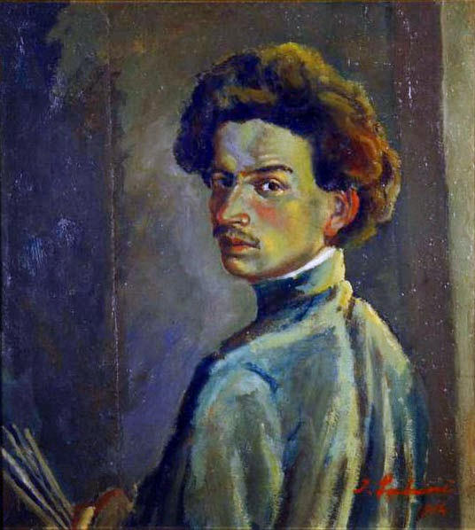Innocente Salvini, Self Portrait, Portraits of Painters, Fine arts, Portraits of painters blog, Paintings of Innocente Salvini, Painter Innocente Salvini