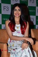 Bollywood Actress Adah Sharma Pos in White Printed Short Dress at OPPO F3 Plus Selfie Expert Mobile Launch .COM 0052.jpg