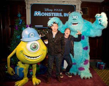 Doug and Chris Brochu at Monsters Inc 3D premiere