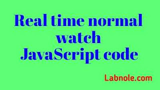 Real-time Normal Watch javaScript image