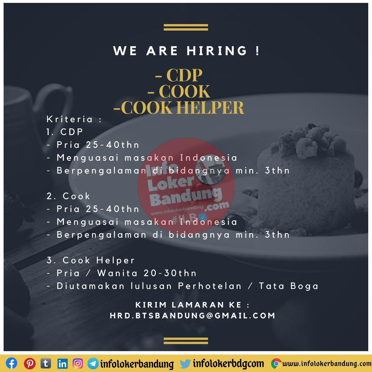 Lowongan Kerja CV. Boga Teman Sejati Bandung November 2020