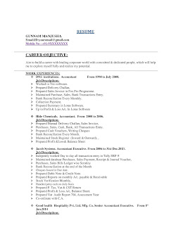 Tax Accountant CV 1