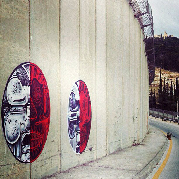 Street Art Duo How Nosm In Palestine Where They Painted Several New Pieces. 8