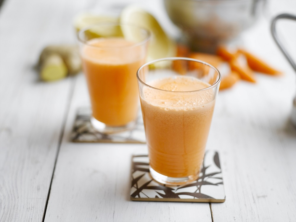 Healthy Chantenay, Grapefruit And Ginger Super Juice