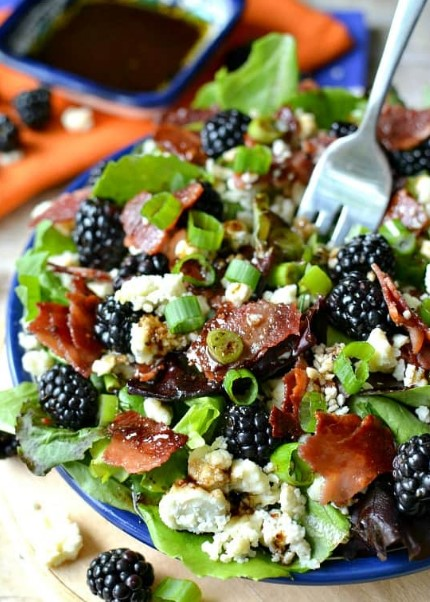 Blackberry, Bacon & Blue Cheese Salad