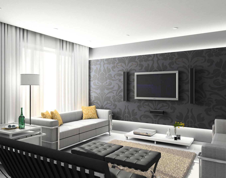 decoracao moderna Vivendo Idéias de decoração da sala