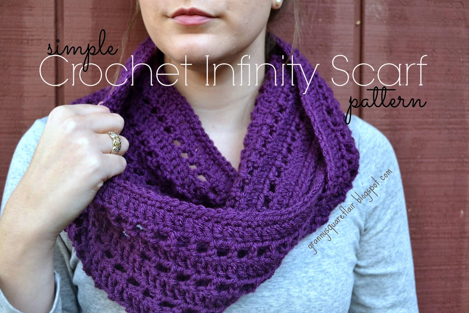 Granny square infinity Scarf
