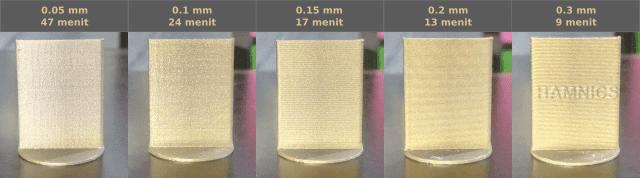 Perbandingan Layer Height 3D Printing Mau Pilih Mana?