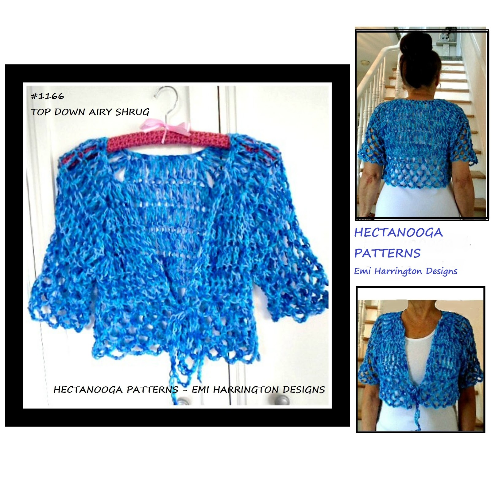HECTANOOGA PATTERNS: FREE CROCHET PATTERN, Summer Shrug
