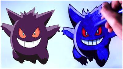 Pokemon Go How To Draw Gengar Speed Art Pokemon Go Por