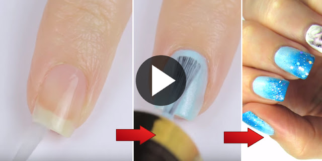 How To Create Elsa Frozen Nail Art, See Tutorial
