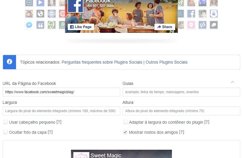 Como colocar Widgets de Redes Sociais no Blog: Facebook Fanpage