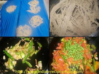 गेहूँ के आटे की सेवाई से मसाला मैगी तैयार करने की विधि।
