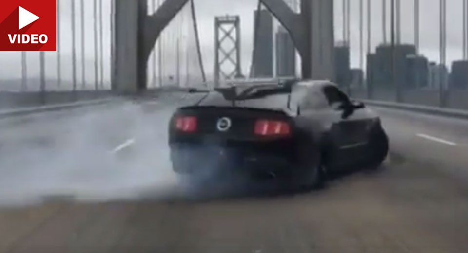 Ford Mustang Owner Arrested After Doing Donuts On San Francisco Bay Bridge