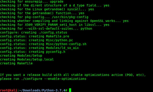 ./configure python3