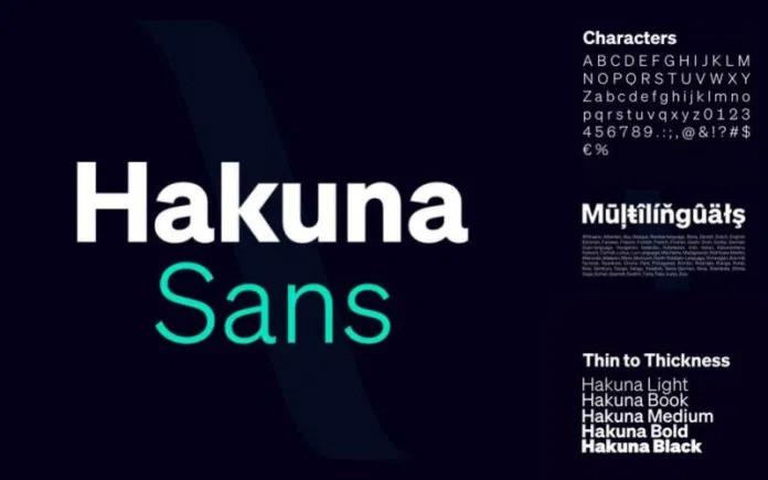 Hakuna Font - Free Sans Serif Typeface