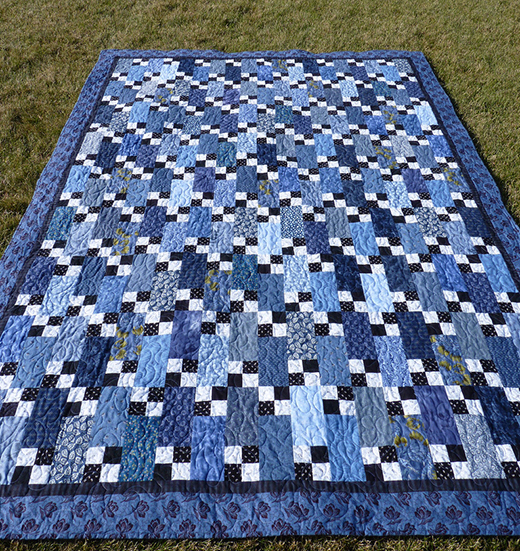 Bricks & Stepping Stones Quilt quilting by Anne Simonot, The Pattern designed By Bonnie K Hunter aka Quiltville