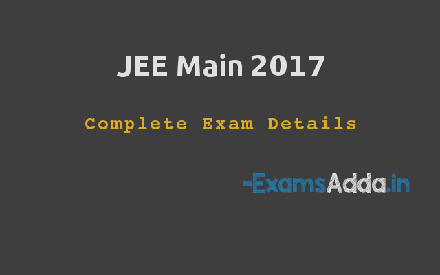 JEE Main - Syllabus, Application Form, Eligibility, Important Dates