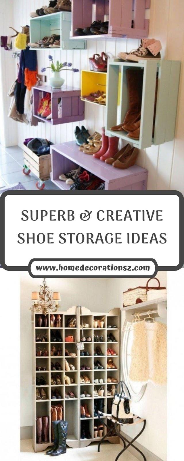 SUPERB & CREATIVE SHOE STORAGE IDEAS