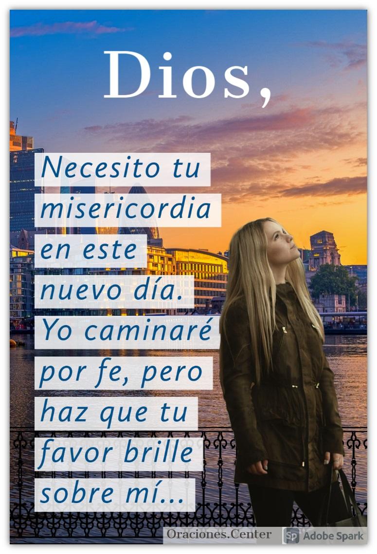 Oración de la Mañana - Oración para Pedir Misericordia de Dios para este Día