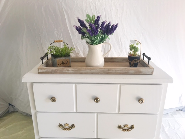 farmhouse white painted pine dresser