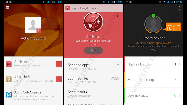 Avira Antivirus Security Screenshots