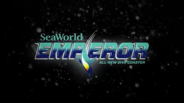 SeaWorld Emperor Logo All New Dive Coaster San Diego